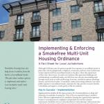 Implementing & Enforcing a Smokefree Multi-Unit Housing Ordinance Cover