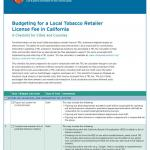 Budgeting for a Local Tobacco Retailer License Fee in California Cover