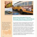 Restricting Junk Food Advertising on School Buses