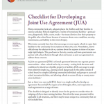Joint Use Agreement Checklist