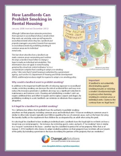 How Landlords Fact Sheet Cover