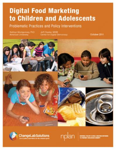Digital Food Marketing to Children and Adolescents Cover