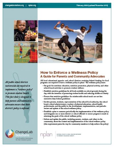 How to Enforce a Wellness Policy Cover