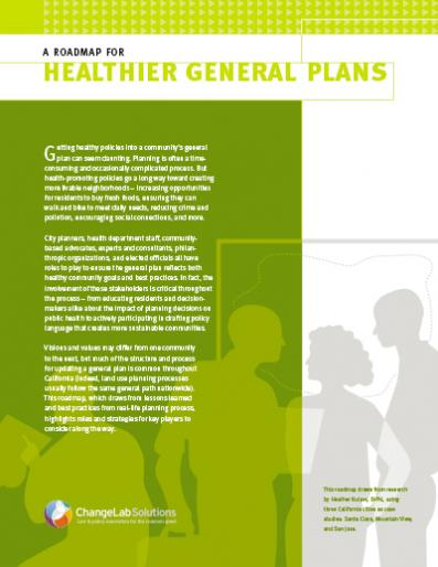 A Roadmap for Healthier General Plans Cover