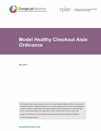 Model Healthy Checkout Aisle Ordinance Cover