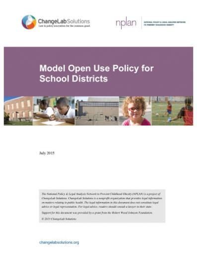 Model Open Use Policy for School Districts Cover