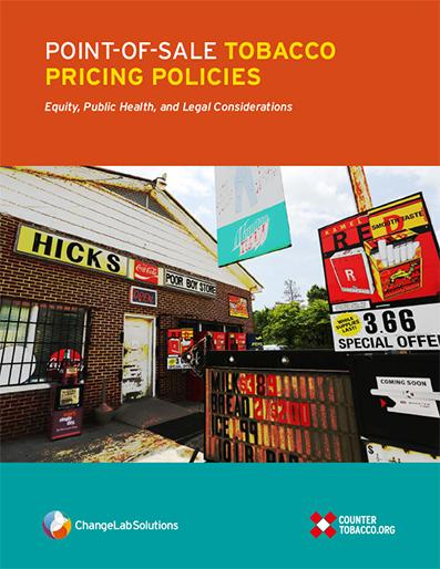 "Cover of ""Point-of-Sale Tobacco Pricing Policies - Equity, Public Health, and Legal Considerations"""