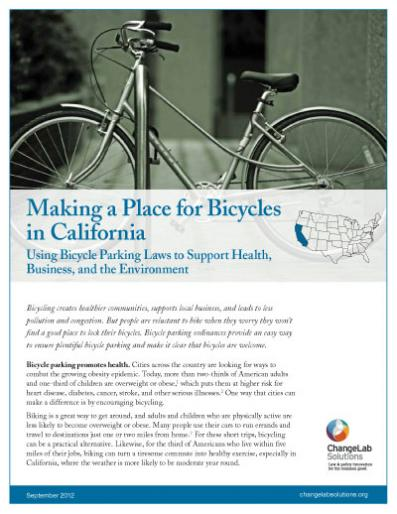 Making a Place for Bicycles in California