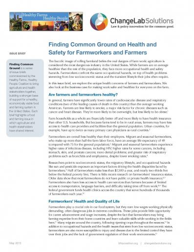 Finding Common Ground on Health and Safety for Farmworkers and Farmers