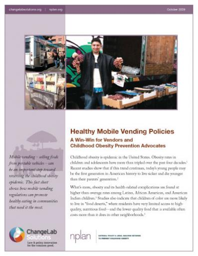 Healthy Mobile Vending Policies