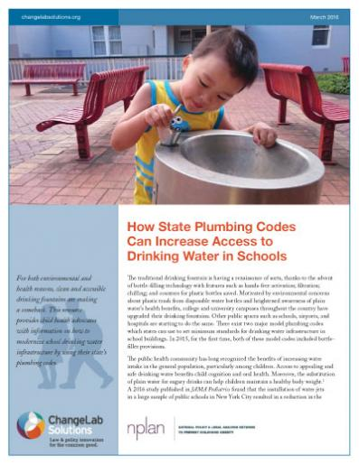 How State Plumbing Codes Can Increase Access to Drinking Water in Schools