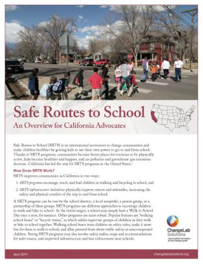 Safe Routes to School Programs in California