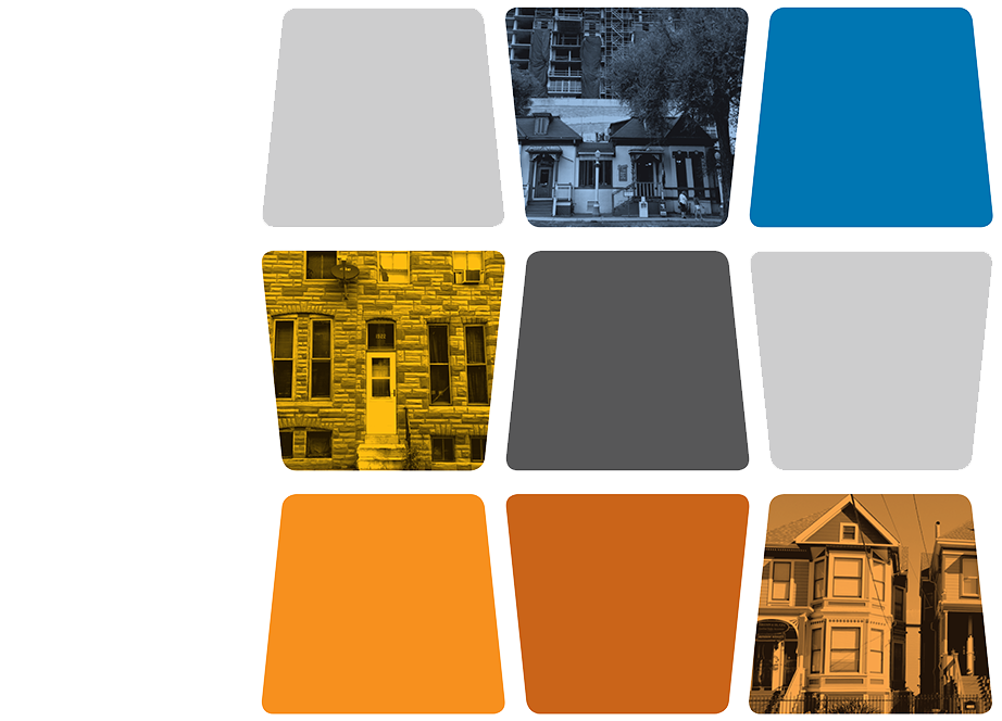 Examples of different types of housing