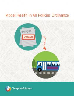 Model Health in All Policies Ordinance Cover