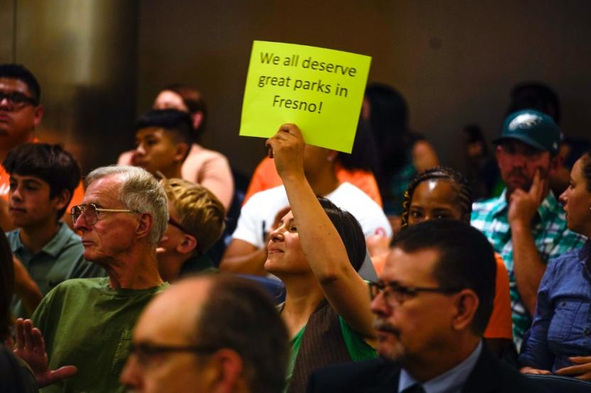 Town hall meeting for public comments on Fresno's master plan for parks
