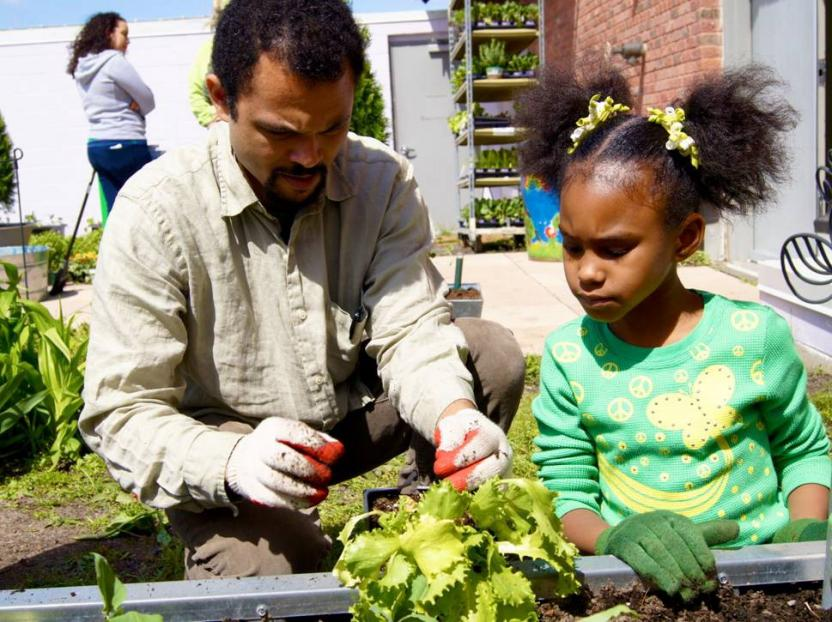 USDA Farm to School program at St. Philip's Academy in Newark, NJ.