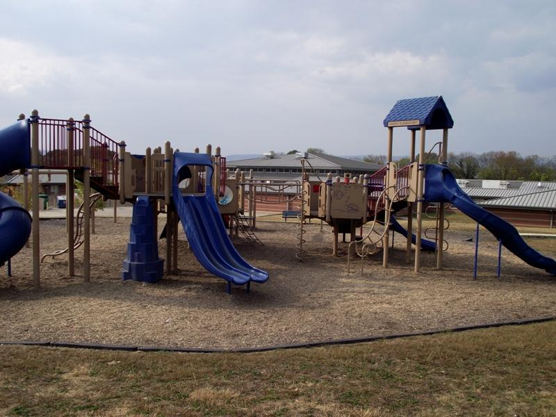 The playground at Hardy Elementary School